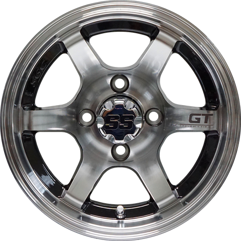 "12"" GT Black/Machined Aluminum Wheels - Set of 4"