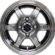 "12"" GT Black/Machined Aluminum Wheels - Set of 4"