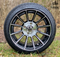"14"" TITAN Machined/Black Aluminum Wheels and Low Profile Tires Combo"
