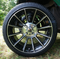 "14"" TITAN Machined/Black Aluminum Wheels and 205/30-14 Low Profile Tires Combo"