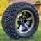 "12"" BULLITT Machined/Black Aluminum Wheels and 23x10.5-12 DOT All Terrain Tires Combo"