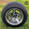 "12"" BULLITT Gunmetal/Machined Aluminum Wheels and 215/50-12 Comfortride DOT Tires Combo"