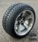 "12"" BULLITT Gunmetal/Machined Aluminum Wheels and 215/35-12 Low Profile DOT Tires Combo"