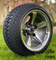 "12"" BULLITT Gunmetal/Machined Aluminum Wheels and 215/35-12 Low Profile DOT Tires Combo"