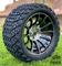 "14"" TITAN Machined/Black Aluminum Wheels and 23x10-14 DOT All Terrain Tires Combo"