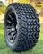 "14"" TITAN Gloss Black Aluminum Wheels and 23x10-14 DOT All Terrain Tires"
