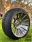 "14"" TITAN Gunmetal/Machined Aluminum Wheels and 205/30-14 Low Profile DOT Tires Combo"