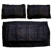 Club Car DS BLACK Factory Vinyl Golf Cart Seat Cover Set - (1982-2000)