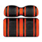 Club Car DS DoubleTake Max 5 Rear Seat Kit - Extreme Cushions Orange/Black