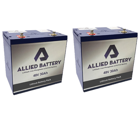 EZGO TXT 48V Lithium Golf Cart Batteries - Drop in Ready (For 2014+)