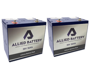 Club Car DS Lithium Golf Cart Batteries for 1990-2000 Models - Drop in Ready (36-Volt)