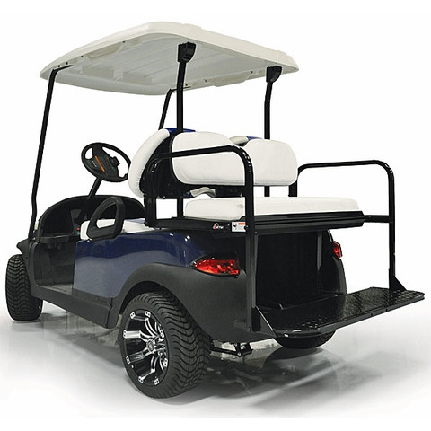 Yamaha Drive (G29)/ Drive2 GTW Golf Cart Rear Seat Kit - White - Flip Seat w/ Cargo Bed (Fits 2007+)