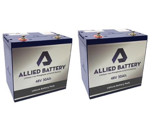 Club Car DS Lithium Golf Cart Batteries - (Fits 2000+, 48-Volt)