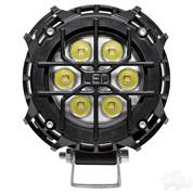 """RHOX 4"""" Golf Cart LED Utility Spotlight - 12V-30V (21 Watt / 2,000 Lumens, Fits All Carts)"""