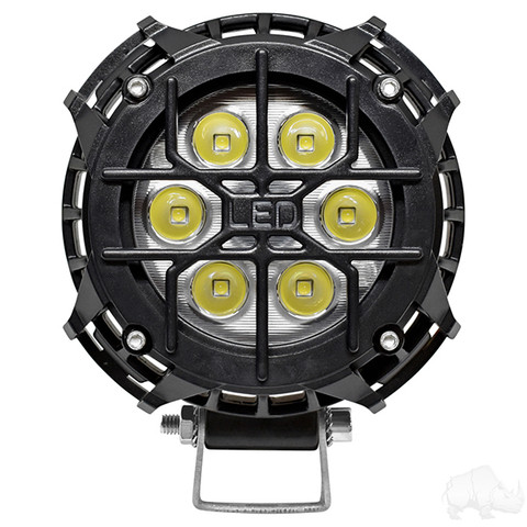 "RHOX 4"" Golf Cart LED Utility Spotlight - 12V-30V (21 Watt / 2,000 Lumens, Fits All Carts)"