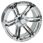 "15"" TERMINATOR Chrome Aluminum Golf Cart Wheels - Set of 4"