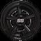 "SS Gloss Black 8"" Golf Cart Hub Caps - Set of 4"