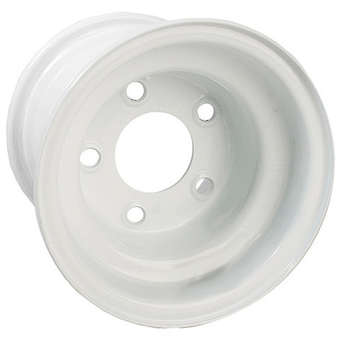 "8"" White Steel Golf Cart Wheel (5-hole)"
