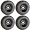 "10"" BLACK Steel Wheels and Excel Sahara Classic 20x10-10"" DOT All Terrain Tires Combo"