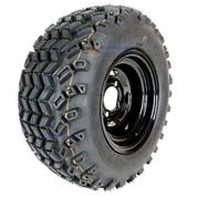 "10"" BLACK Steel Wheels and 20x10-10"" SAHARA CLASSIC DOT All Terrain Tires Combo - Set of 4"