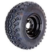 "10"" BLACK Steel Wheels and 22x11-10"" SAHARA CLASSIC DOT All Terrain Tires Combo - Set of 4"