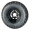 "10"" BLACK Slotted Steel Wheels and Excel Sahara Classic 22x11-10"" DOT All Terrain Tires Combo"