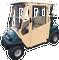 Club Car Onward Enclosure / Golf Cart Cover - DoorWorks Hinged Hard Door (Sunbrella Material)