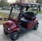 "8"" TERMINATOR Black/ Silver Metallic Golf Cart Hub Caps"