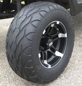 "12"" BARRACUDA Wheels and 23"" Street Fox Radial Golf Cart Tires Combo (Set of 4)"