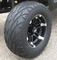 "12"" BARRACUDA Wheels and 23"" Street Fox Radial Golf Cart Tires Combo (Set of 4)"