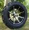 "12"" KRAKEN Machined/Black Aluminum Wheels and 20x10-12"" All Terrain Tires Combo"