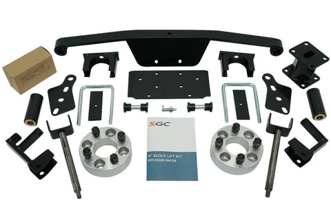 "SGC 4"" Club Car DS Spindle Extension Lift Kit (Fits all 1982-2010)"