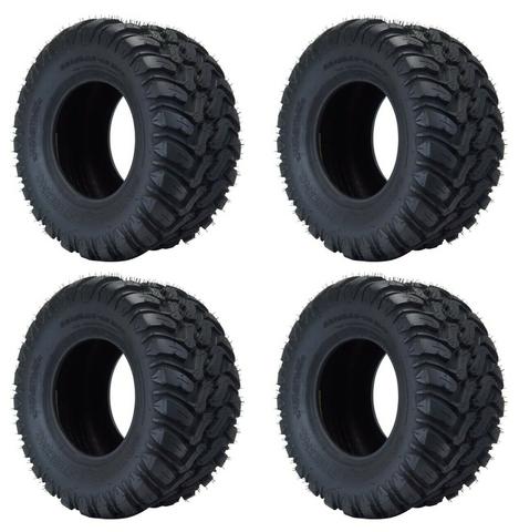 """Wanda 22x10.5-10 MUD Terrain """"CRAWLER"""" Golf Cart Tires (Set of 4)"""