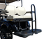EZGO TXT DELUXE Golf Cart Rear Seat Kit - WHITE Color - (FREE Grab Bar, Tow Hitch, Folding Step)