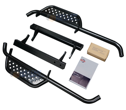 SGC EZGO TXT Nerf Bars Set - BLACK Side Step Running Board