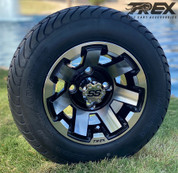 """10"""" ATLAS Machined Wheels and 205/50-10 Low Profile DOT Tires Combo"""