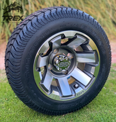 "10"" ATLAS Gunmetal Wheels and 205/50-10 Low Profile DOT Tires Combo"