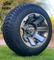 "10"" ATLAS Gunmetal Wheels and 205/50-10 Low Profile DOT Tires Combo"