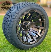 "12"" MAVERICK Metallic Bronze Aluminum Wheels and 215/40-12 Low Profile DOT Tires Combo"