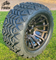 "12"" MAVERICK Metallic Bronze Aluminum Wheels and 20x10-12"" DOT All Terrain Tires Combo"