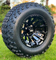 "12"" MAVERICK Gloss Black Aluminum Wheels and 23"" All Terrain Tires combo"
