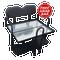 EZGO TXT/ Medalist / PDS Golf Cart Rear Seat Kit - BLACK (Flip Seat w/ Cargo Bed & FREE Grab Bar)