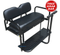 EZGO TXT/ Medalist / PDS Golf Cart Rear Seat Kit - BLACK (Flip Seat w/ Cargo Bed & FREE Grab Bar)