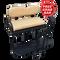 EZGO TXT/ Medalist / PDS Golf Cart Rear Seat Kit - TAN (Flip Seat w/ Cargo Bed & FREE Grab Bar)