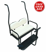 Club Car DS Golf Cart Rear Seat Kit (1982 - 2013 models) - WHITE