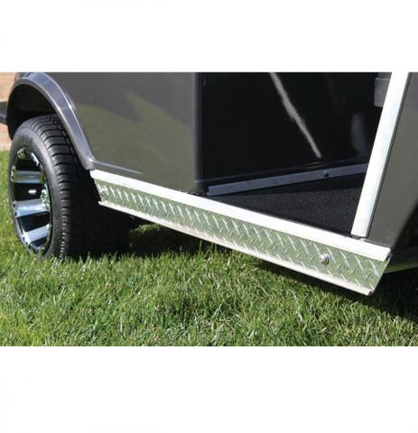 Club Car DS Rocker Panel Inserts - Polished Diamond Plate