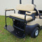 Golf Cart Rear Seat Arm Rest Cushion & Cup Holder - TAN