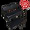 Club Car Precedent Golf Cart Rear Seat Kit w/ Cargo Bed & Free Grab Bar - BLACK