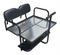 Club Car Precedent Golf Cart Rear Seat Kit w/ Cargo Bed & Free Grab Bar - BLACK
