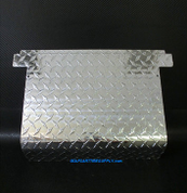 EZGO TXT Access Panel Cover in Aluminum Diamond Plate